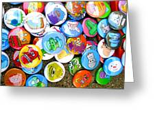 Pinback Buttons Greeting Card by Jera Sky