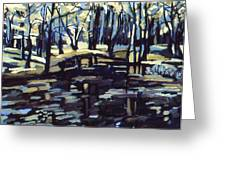 Pine Barrens Greeting Card by Doris  Lane Grey