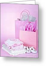 Pink Baby Shower Presents Greeting Card by Elena Elisseeva