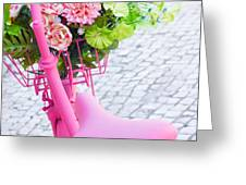pink bicycle Greeting Card by Carlos Caetano