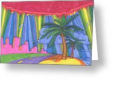 Pink City Greeting Card by James Davidson