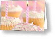 Pink Party Cupcakes Greeting Card by Amanda And Christopher Elwell