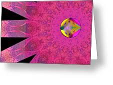 Pink Ribbon Of Hope Greeting Card by Alec Drake