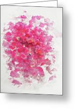 Pink Rose Greeting Card by Rachel Christine Nowicki