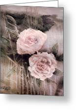 Pink Roses Greeting Card by Arline Wagner