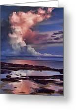Pink Sky Greeting Card by Douglas Barnard