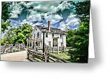 Pioneer Village Greeting Card by Jana Smith