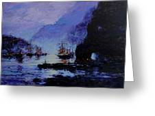 Pirate's Cove Greeting Card by R W Goetting