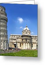 Pisa Italy - Piazza Dei Miracoli - 01 Greeting Card by Gregory Dyer