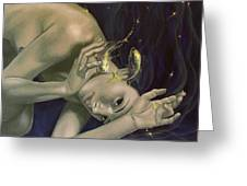 Pisces From Zodiac Series Greeting Card by Dorina  Costras