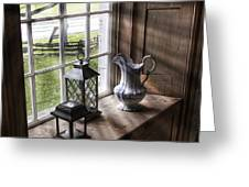 Pitcher Window Greeting Card by Peter Chilelli