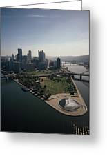 Pittsburgh And The Confluence Greeting Card by Lynn Johnson