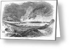 Pittsburgh: Fire, 1845 Greeting Card by Granger