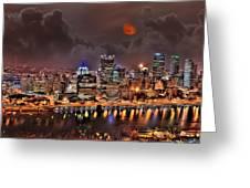 Pittsburgh Night Lights Greeting Card by Jason Wilt