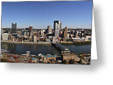 Pittsburgh Panoramic Greeting Card by Teresa Mucha