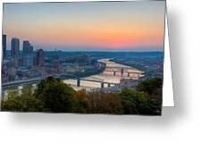 Pittsburgh Pre-dawn Greeting Card by David Hahn