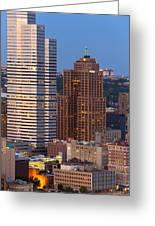 Pittsburgh Skyline 1 Greeting Card by Emmanuel Panagiotakis
