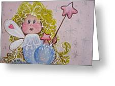 Pixie Dust Greeting Card by Leslie Manley