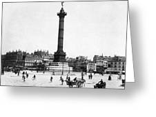 Place De La Bastille Greeting Card by Granger
