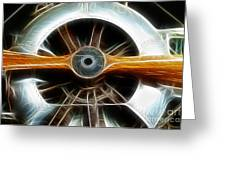 Plane Wood And Chrome Greeting Card by Paul Ward