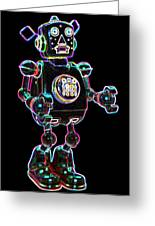 Planet Robot Greeting Card by DB Artist