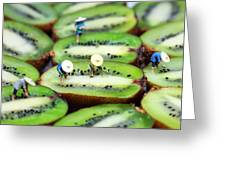 Planting Rice On Kiwifruit Greeting Card by Paul Ge