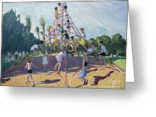 Playground Greeting Card by Andrew Macara