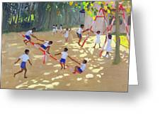 Playground Sri Lanka Greeting Card by Andrew Macara