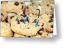 Playing Basketball On Cookies II Greeting Card by Paul Ge