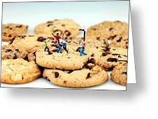 Playing basketball on cookies Greeting Card by Paul Ge