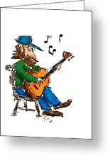 Playing Fer Fun Greeting Card by Ross Powell