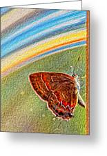 Playroom Butterfly Greeting Card by Bill Tiepelman