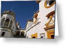 Plaza De Toros De La Real Maestranza - Seville Greeting Card by Juergen Weiss