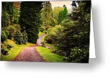 Pleasant Path. Benmore Botanical Garden. Scotland Greeting Card by Jenny Rainbow