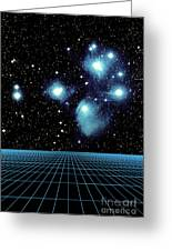 Pleiades In Taurus Greeting Card by Science Source