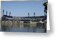 Pnc Park Greeting Card by Chad Thompson