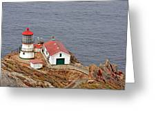 Point Reyes Lighthouse Ca Greeting Card by Christine Till