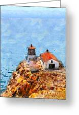 Point Reyes Lighthouse In California . 7d15989 Greeting Card by Wingsdomain Art and Photography