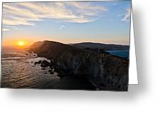 Point Reyes Sunset Greeting Card by About Light  Images