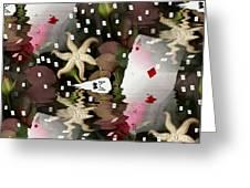 Poker Pop Art All In Greeting Card by Pepita Selles