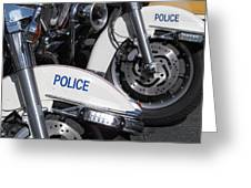 Police Wheels Greeting Card by Alfred Ng