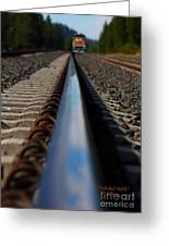 Polished Rails Greeting Card by Patrick Witz