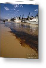 Polluted Water, Rio De La Plata Greeting Card by Bernard Wolff