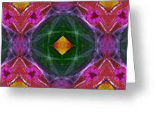 Polychromatic Arabesque Greeting Card by Gregory Scott