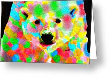 Polychromatic Polar Bear Greeting Card by Anthony Caruso