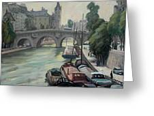 Pont Neuf A Paris Greeting Card by Thor Wickstrom