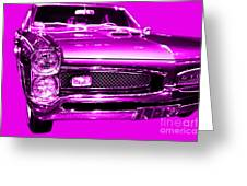 Pontiac Gto Magenta Greeting Card by Wingsdomain Art and Photography
