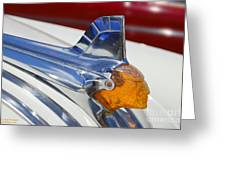 Pontiac Hood Ornament Greeting Card by Larry Keahey