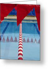 Pool Greeting Card by Skip Hunt