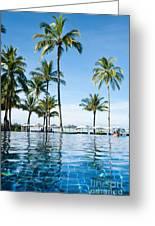 Poolside Greeting Card by Atiketta Sangasaeng